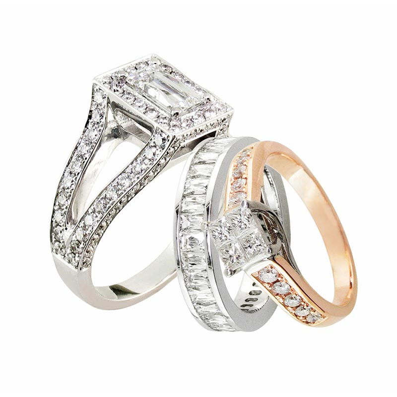 Platinum and gold Rings