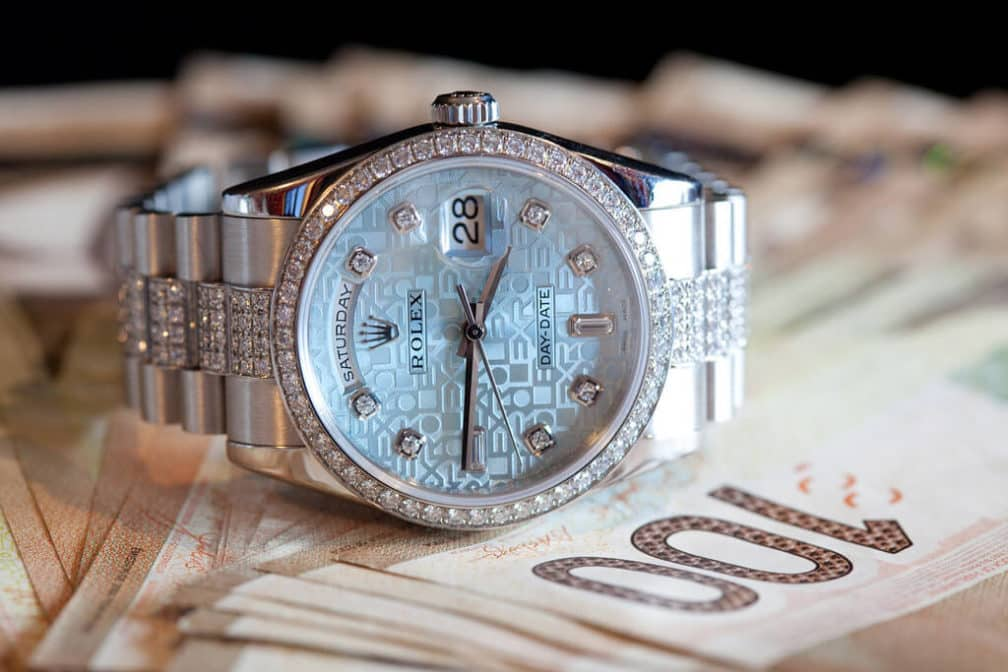 Platinum luxury watches